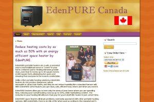 EdenPURE Canada screenshot