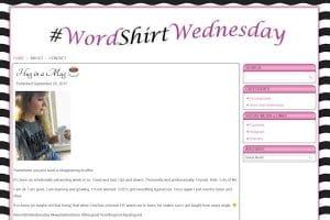 Word Shirt Wednesday
